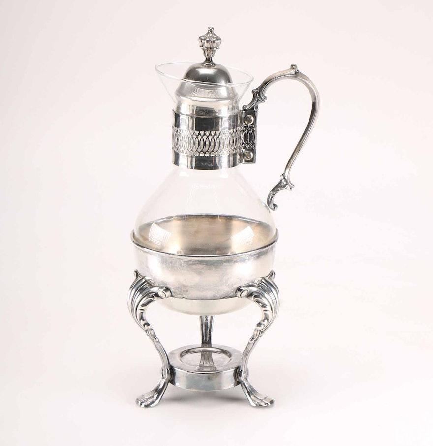 Vintage Coffee Carafe with Burner Stand : EBTH