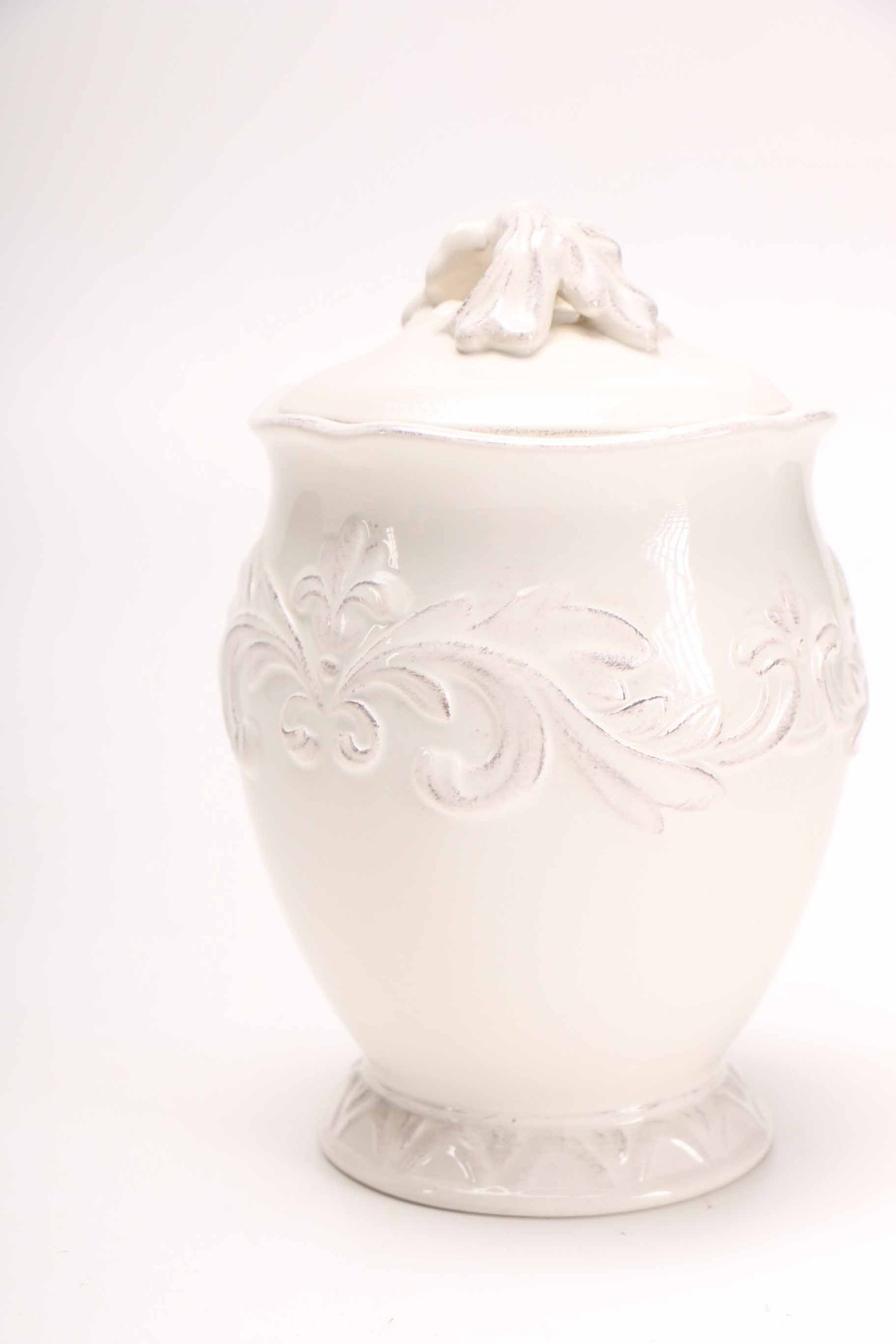White Ceramic Canisters Ebth
