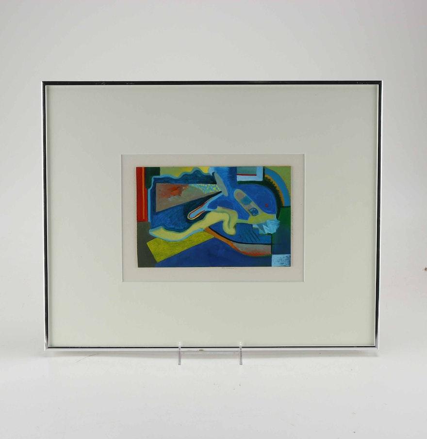 Doris vlasek hails abstract acrylic painting on paper ebth for Acrylic painting on paper tips