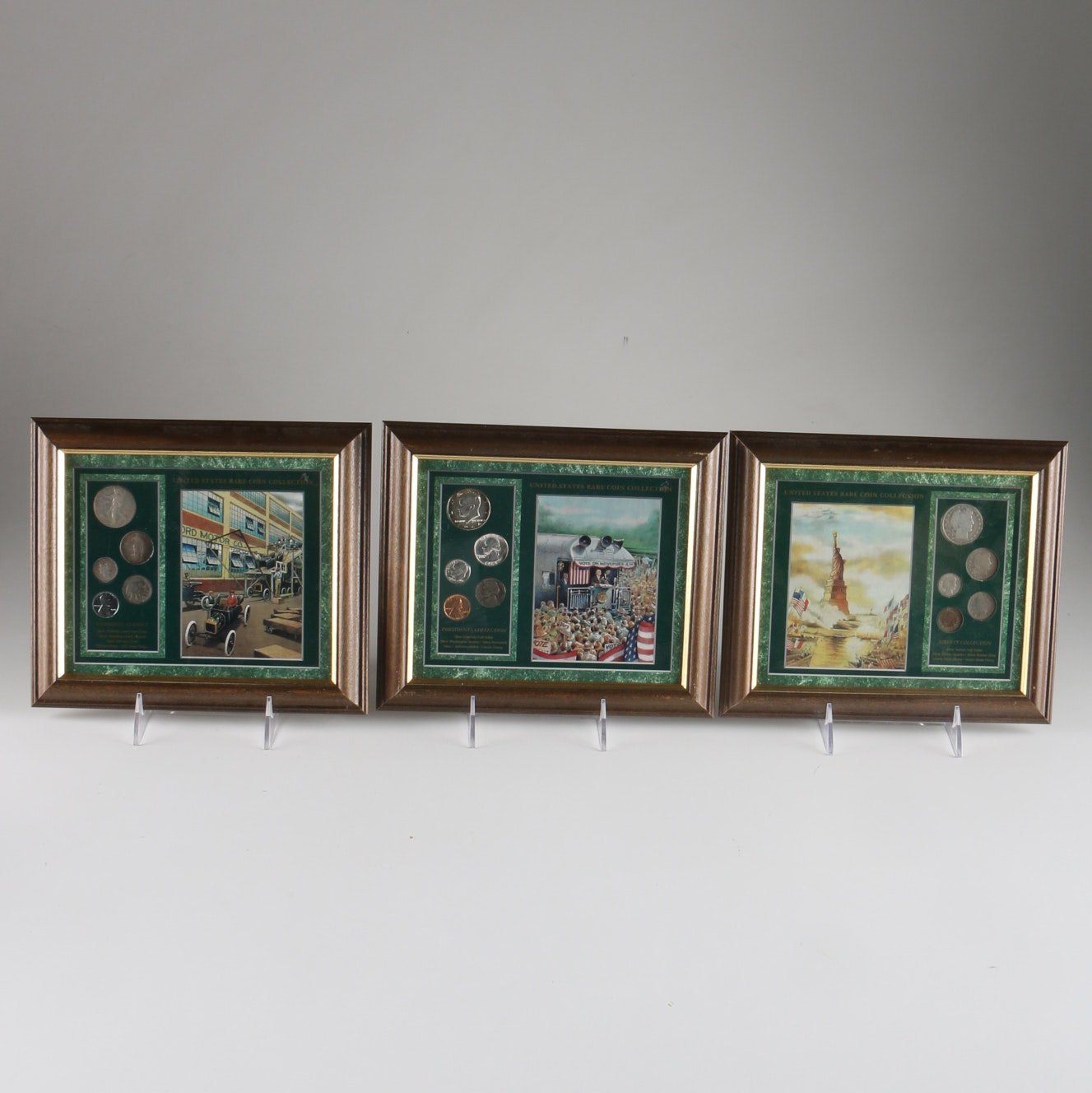 Group of Framed Coin Collections