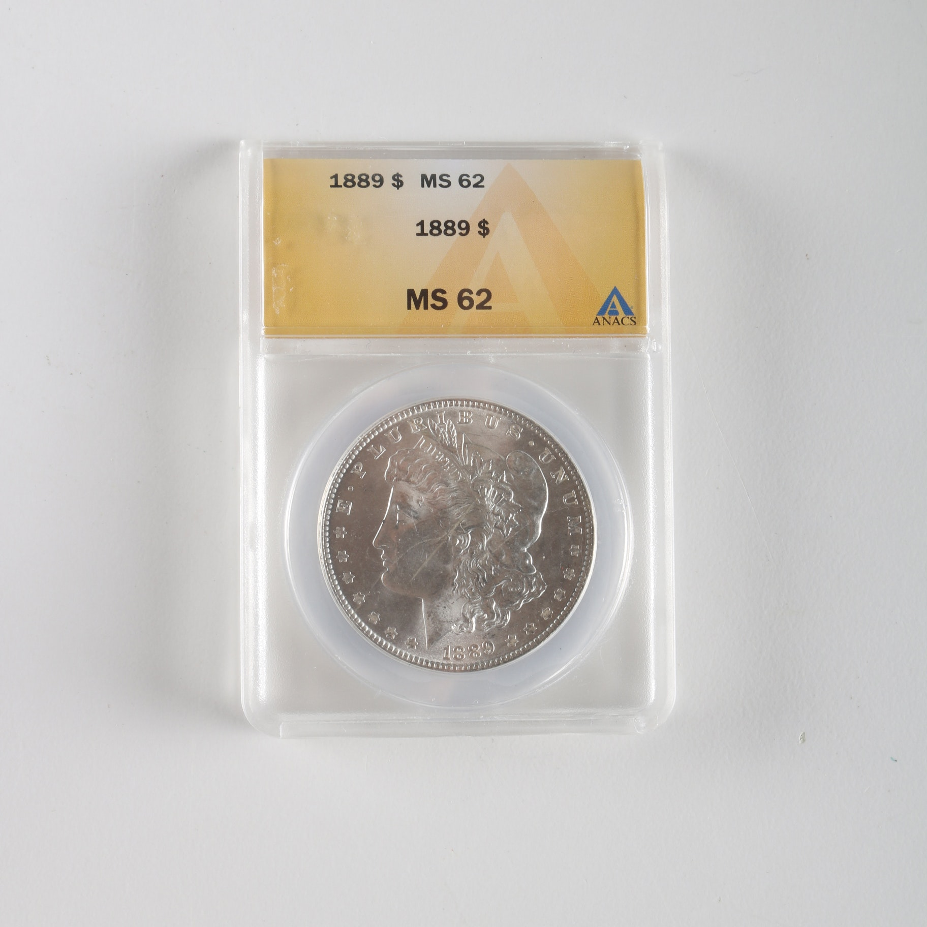 1889 Morgan Dollar in Sealed Graded Case