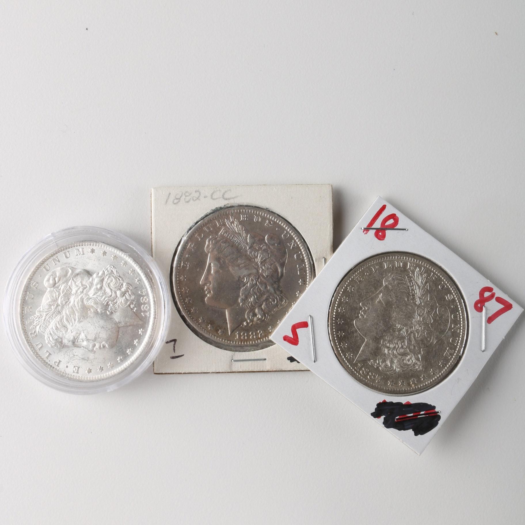 1882 Cc 1884 O And 1887 S Morgan Dollar Ebth