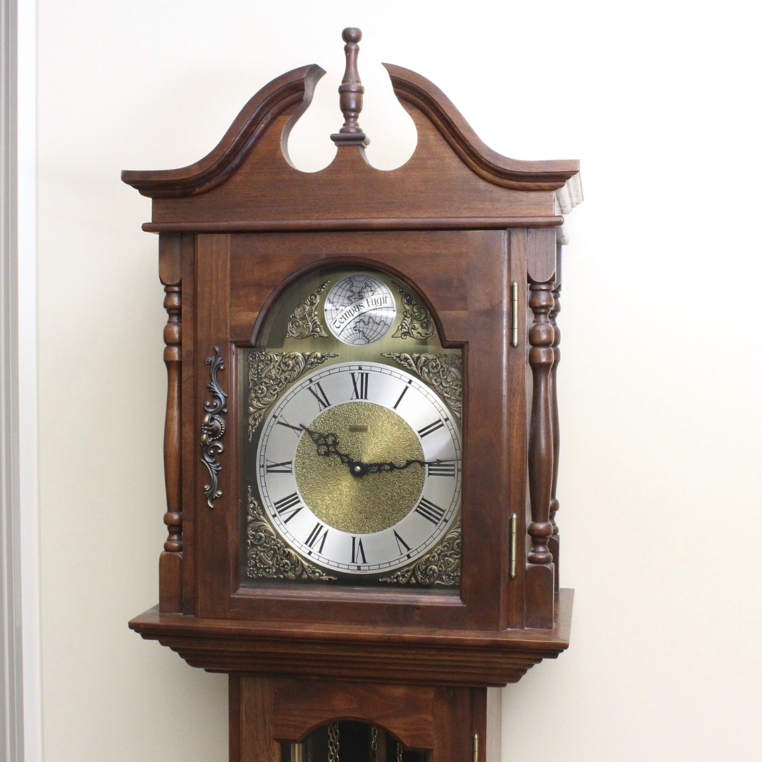 Vintage Emperor Walnut Grandfather Clock