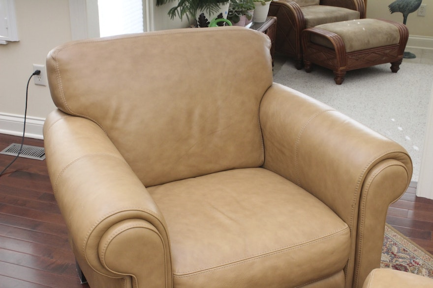 Divani Quot Chateau D Ax Quot Italian Leather Chair With Ottoman