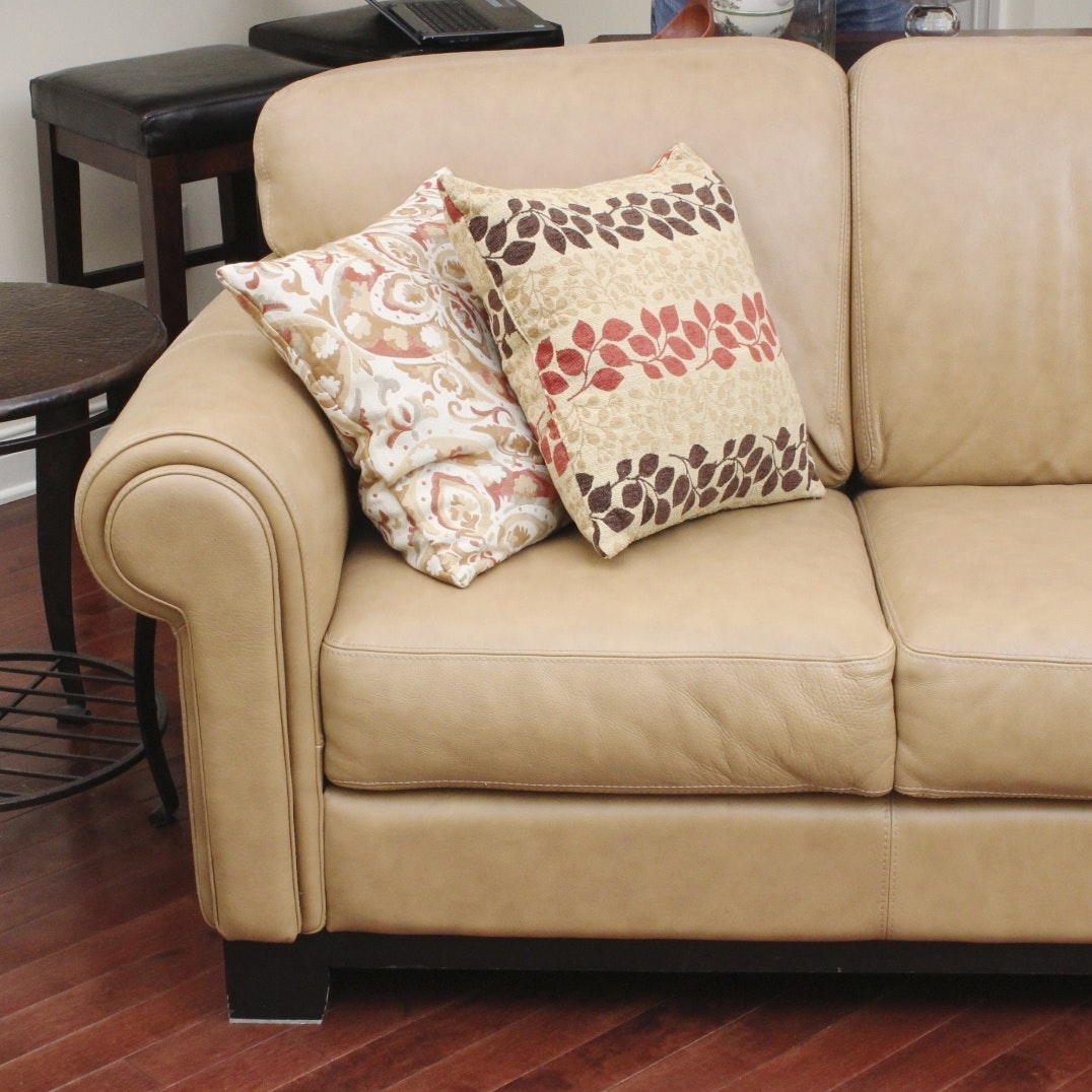 Divani Chateau D Ax Italian Leather Couch Ebth