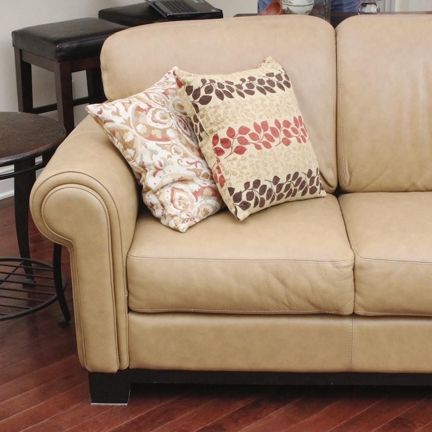 Divani Cau D Ax Italian Leather Couch