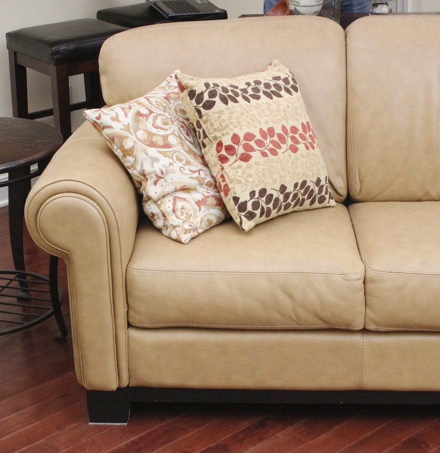 Divani chateau d ax leather sofa - Divani Chateau D Ax Italian Leather Couch