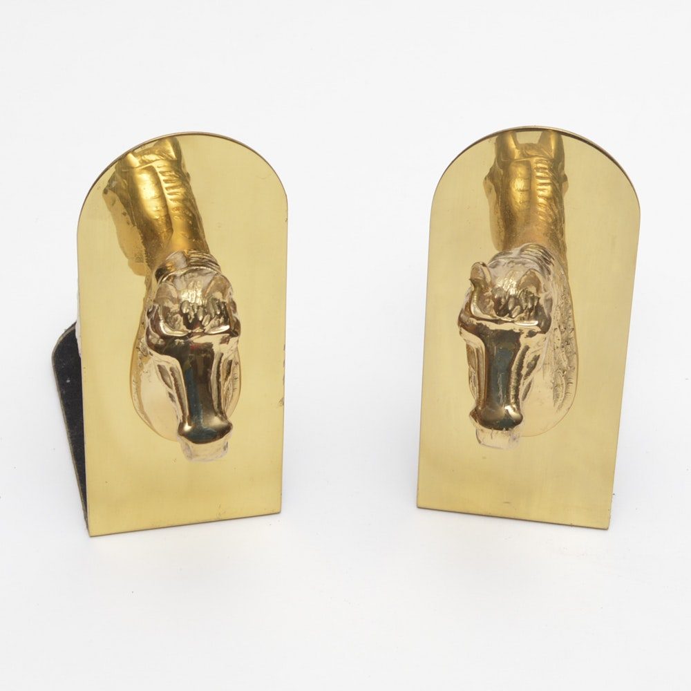 Set of Horse Head Bookends