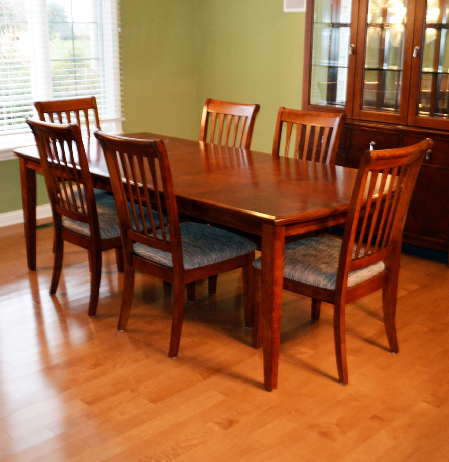 contemporary seven piece dining set by ashley furniture : seven piece dining set