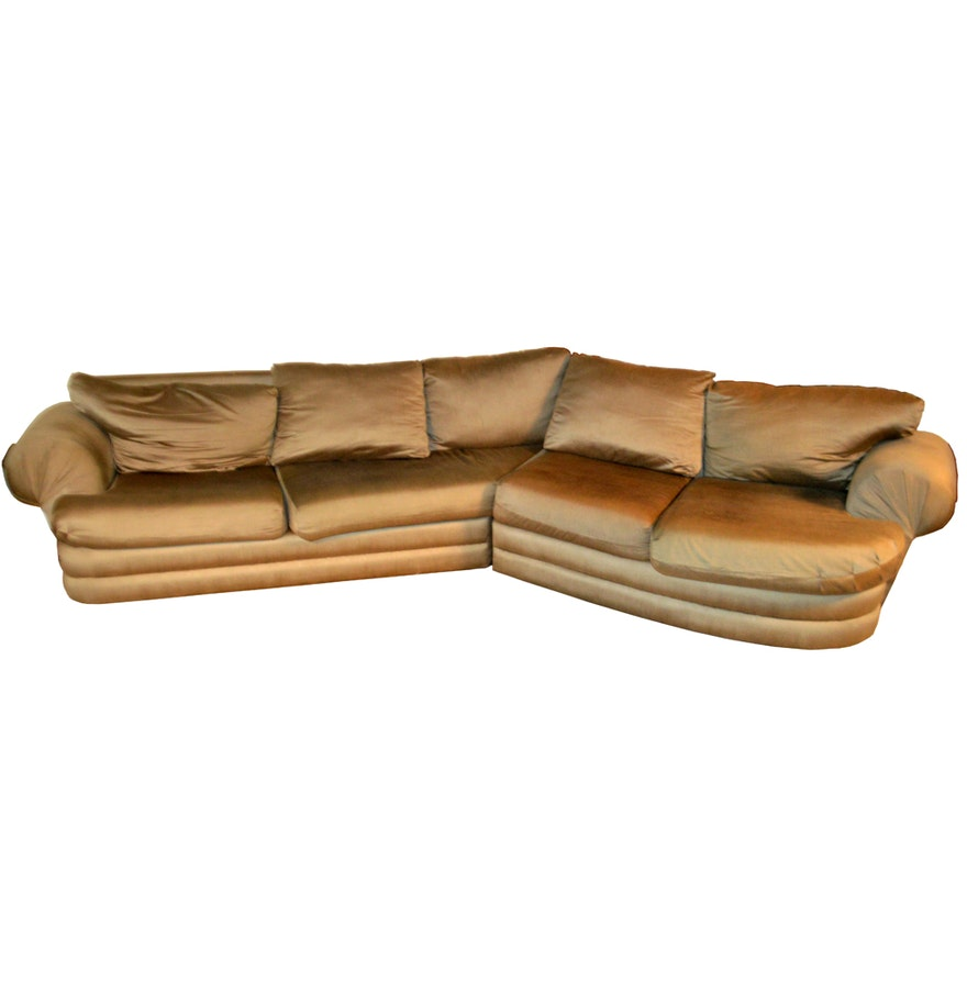 Contemporary sage green sectional sofa ebth for Sage green sectional sofa