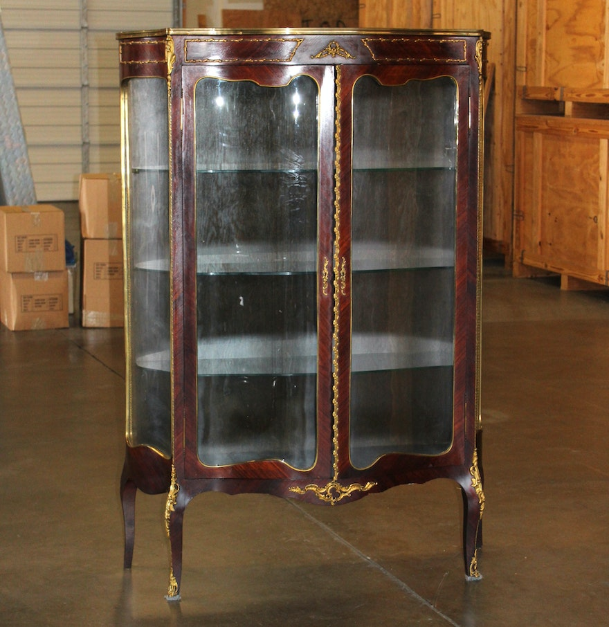 Antique French Curio Cabinet ... - Antique French Curio Cabinet : EBTH