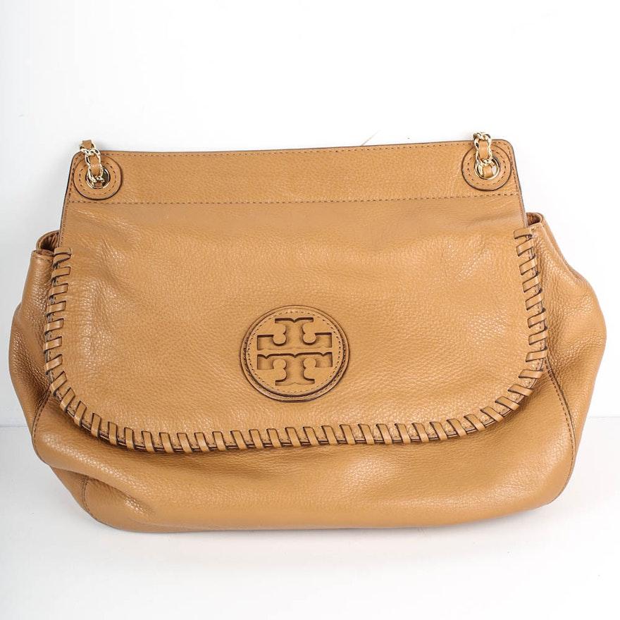 ac8a132edea Tory Burch Camel Leather Handbag   EBTH