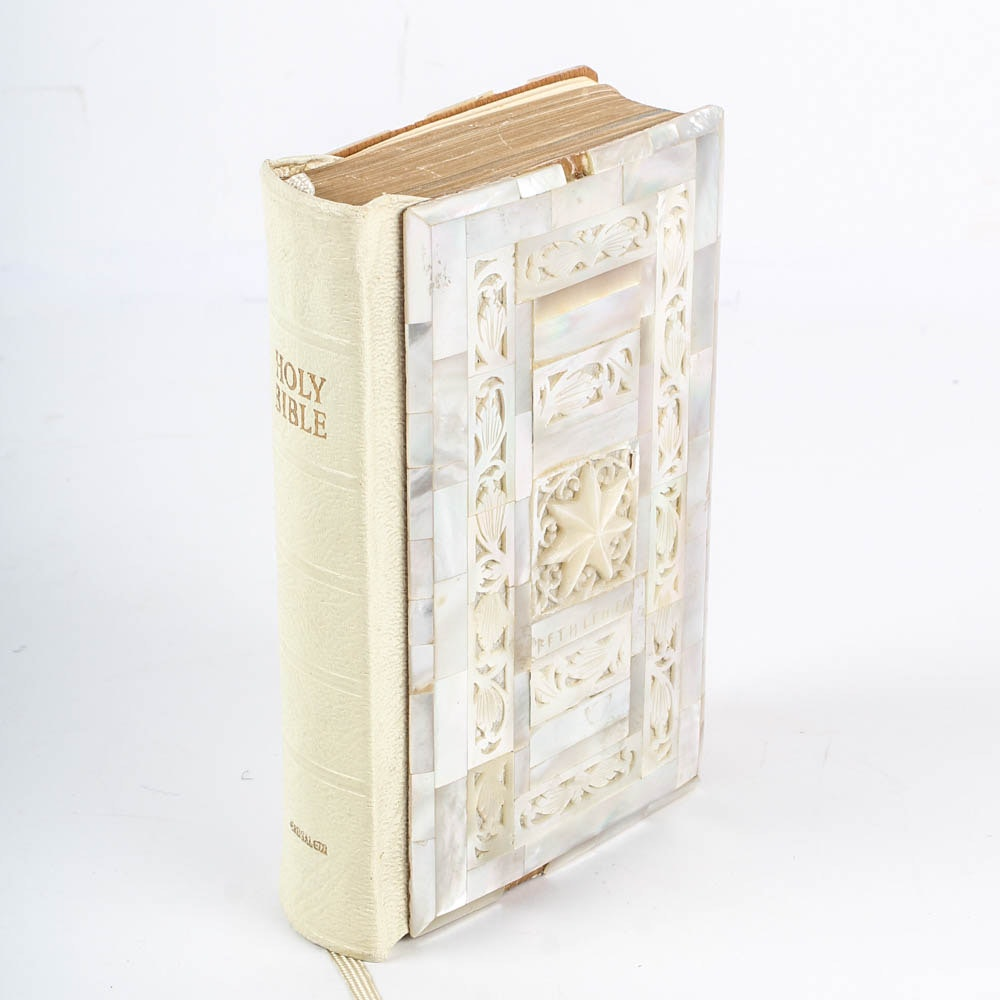 Mother of Pearl Covered King James Bible