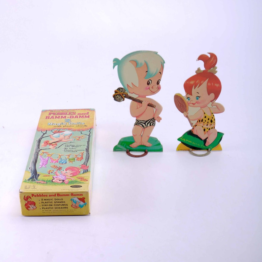 vintage pebbles and bam bam magic dolls set ebth