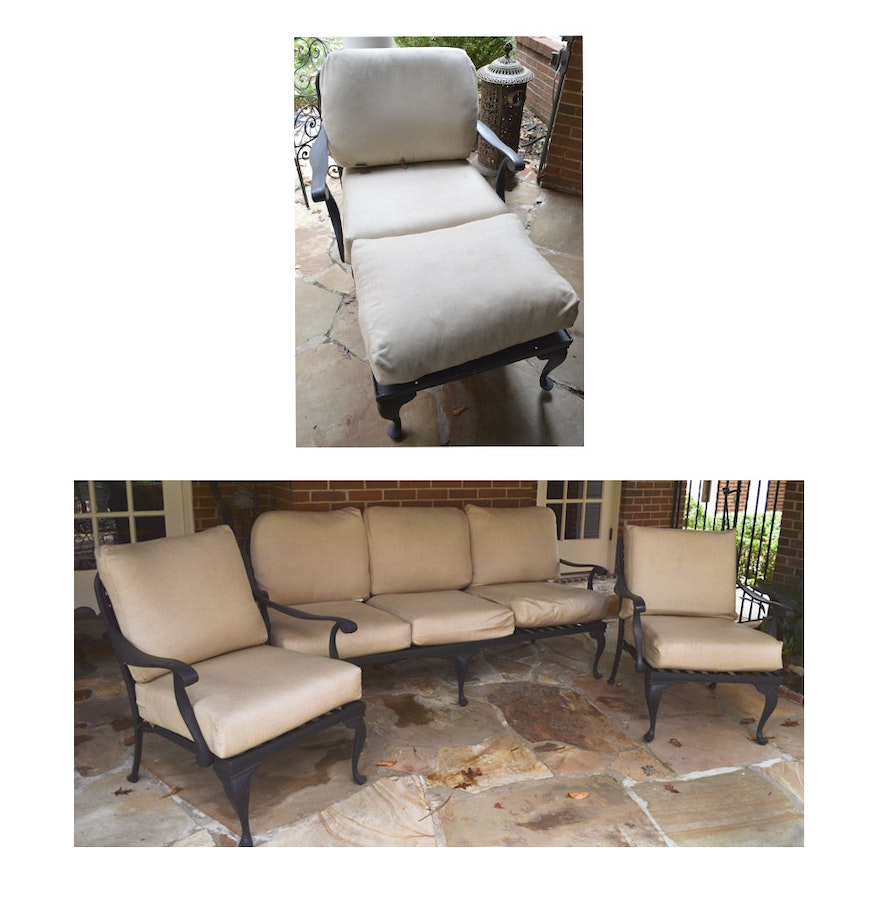 Collection Of Smith And Hawken Wrought Iron Patio