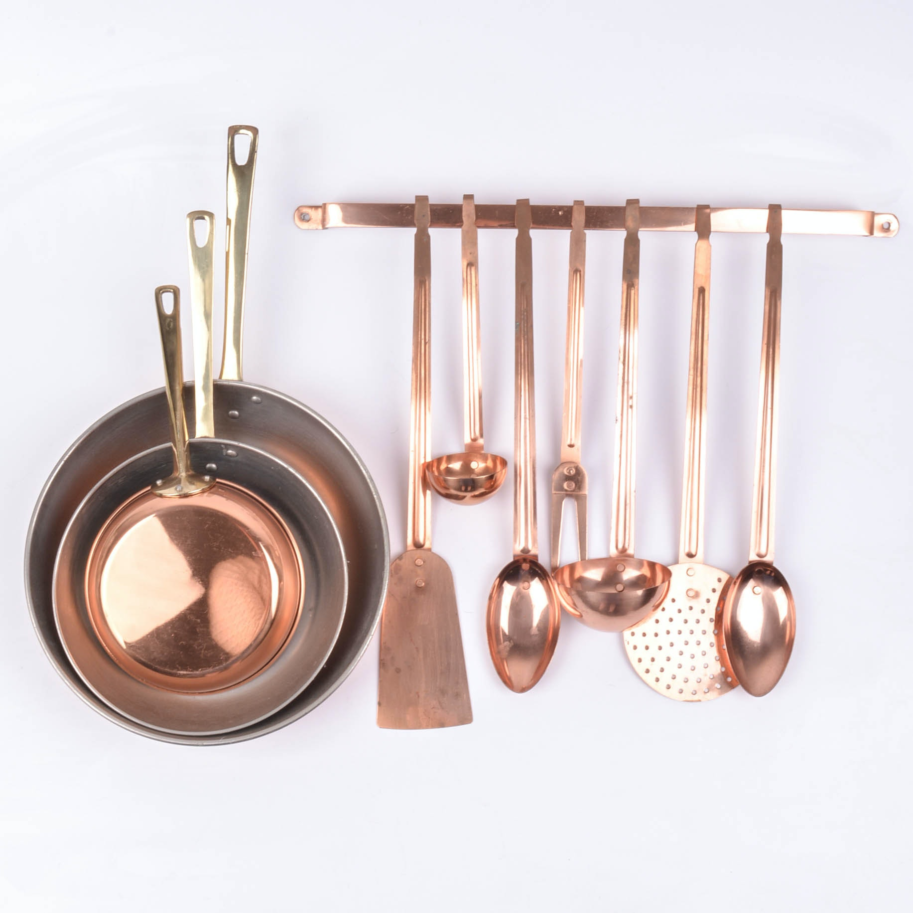 Collection of Copper Kitchenware