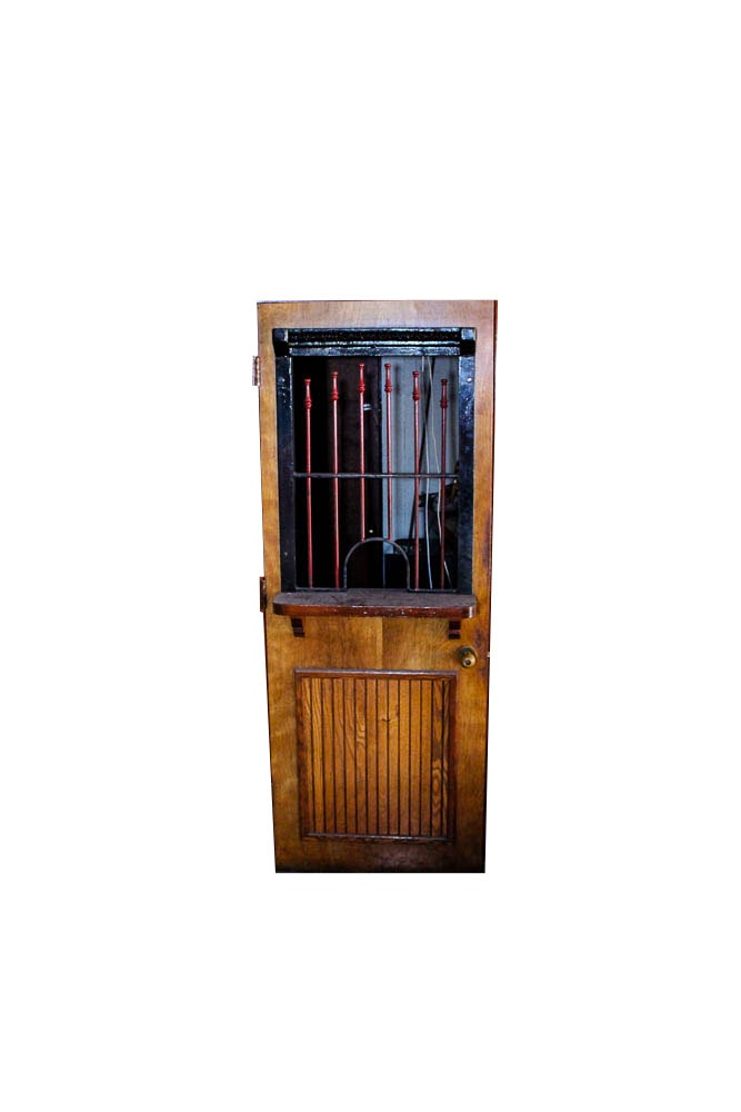 Vintage Bank Teller or Ticket Booth Door