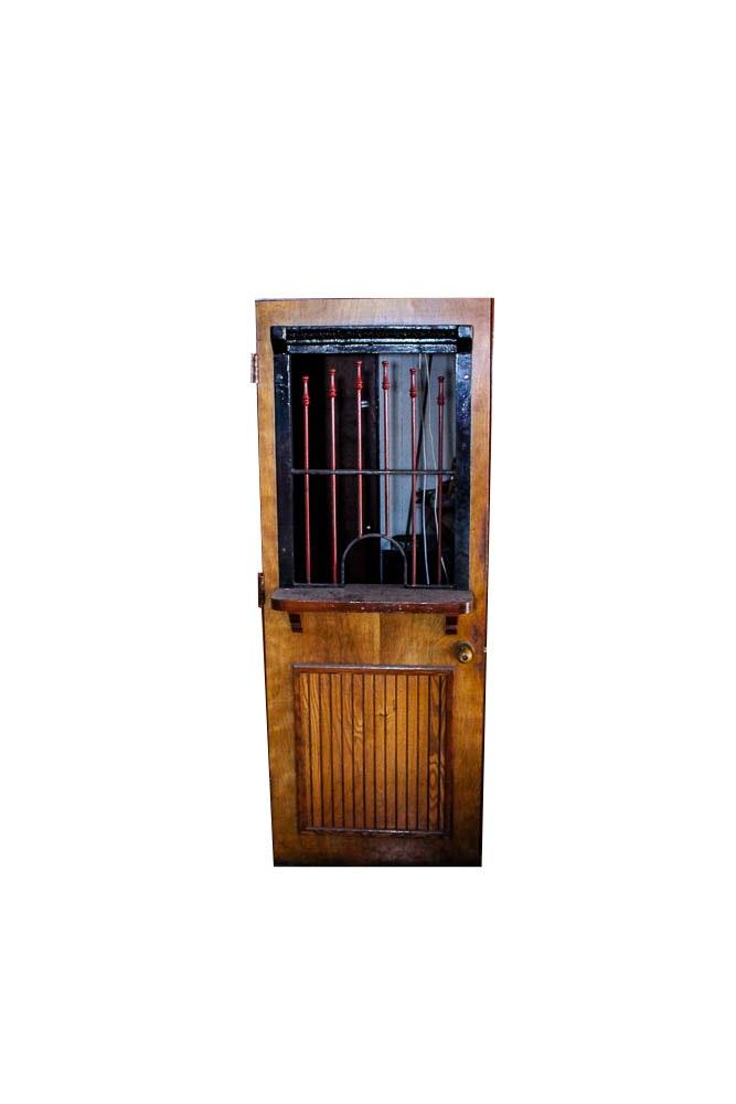 Vintage Bank Teller Or Ticket Booth Door Ebth