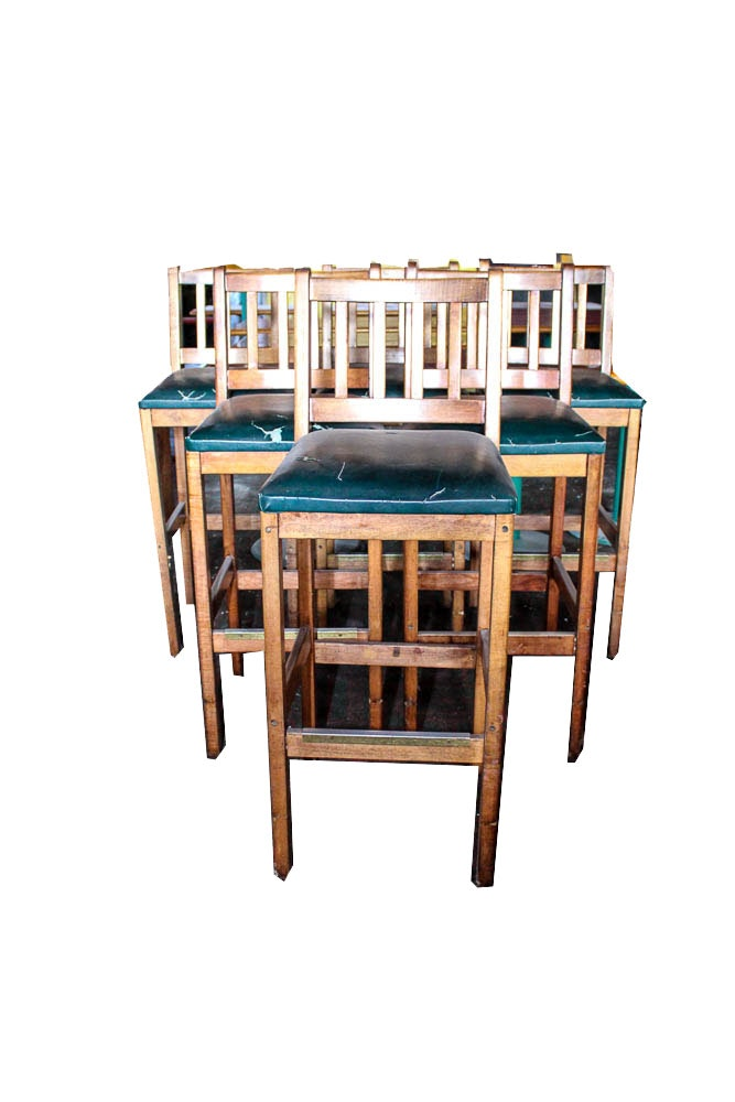 A Pair Of Billiards Bar Stools Ebth