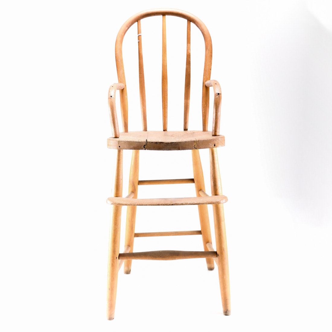 Folding patio chairs - Vintage Wooden High Chair Ebth