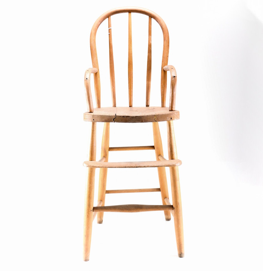 Antique high chairs wooden for Antique high chairs