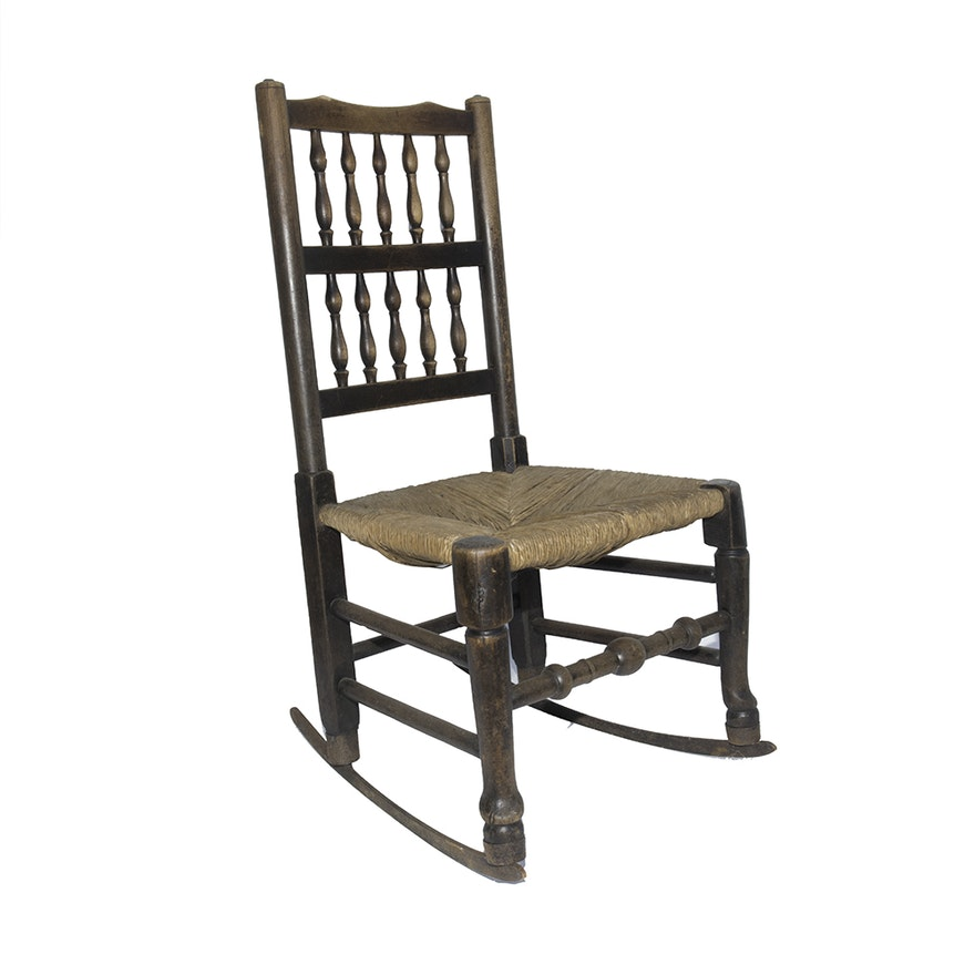 Antique Spindle Back Rocking Chair ... - Antique Spindle Back Rocking Chair : EBTH