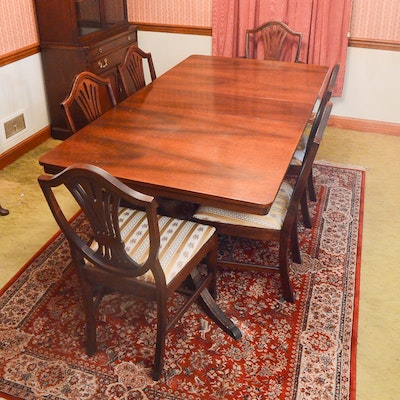 Duncan Phyfe Style Dining Table Chairs EBTH