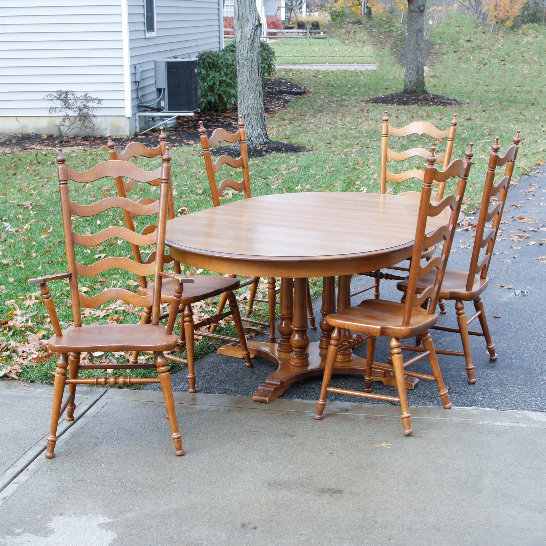 Dining Set Inc. Jefferson Woodworking Co. Table And Tell City Chairs ...