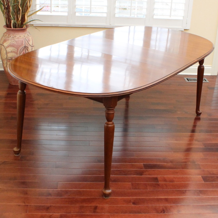 "Ethan Allen ""American Traditional"" Cherry Dining Table : EBTH"