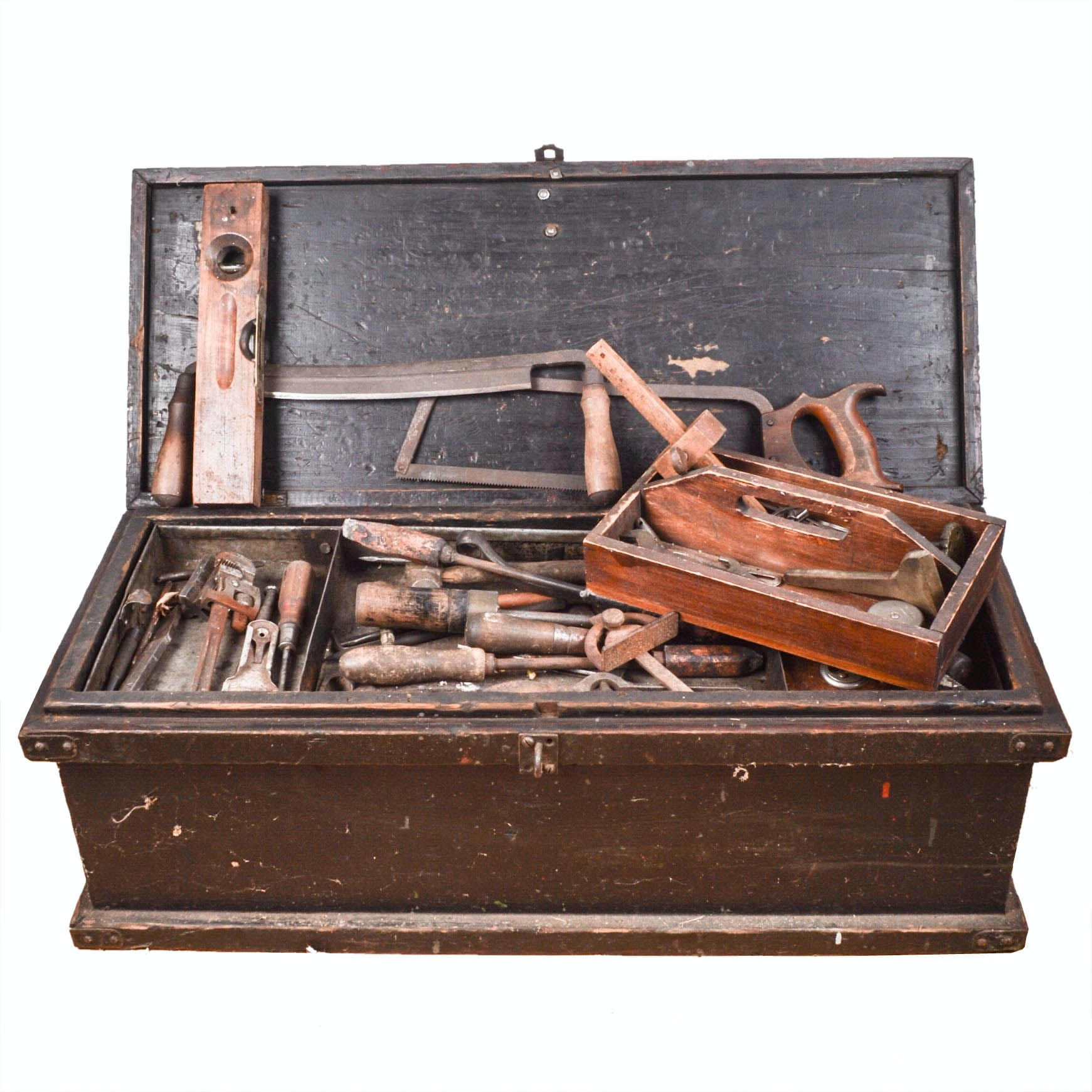 Antique Tool Chest with Tools