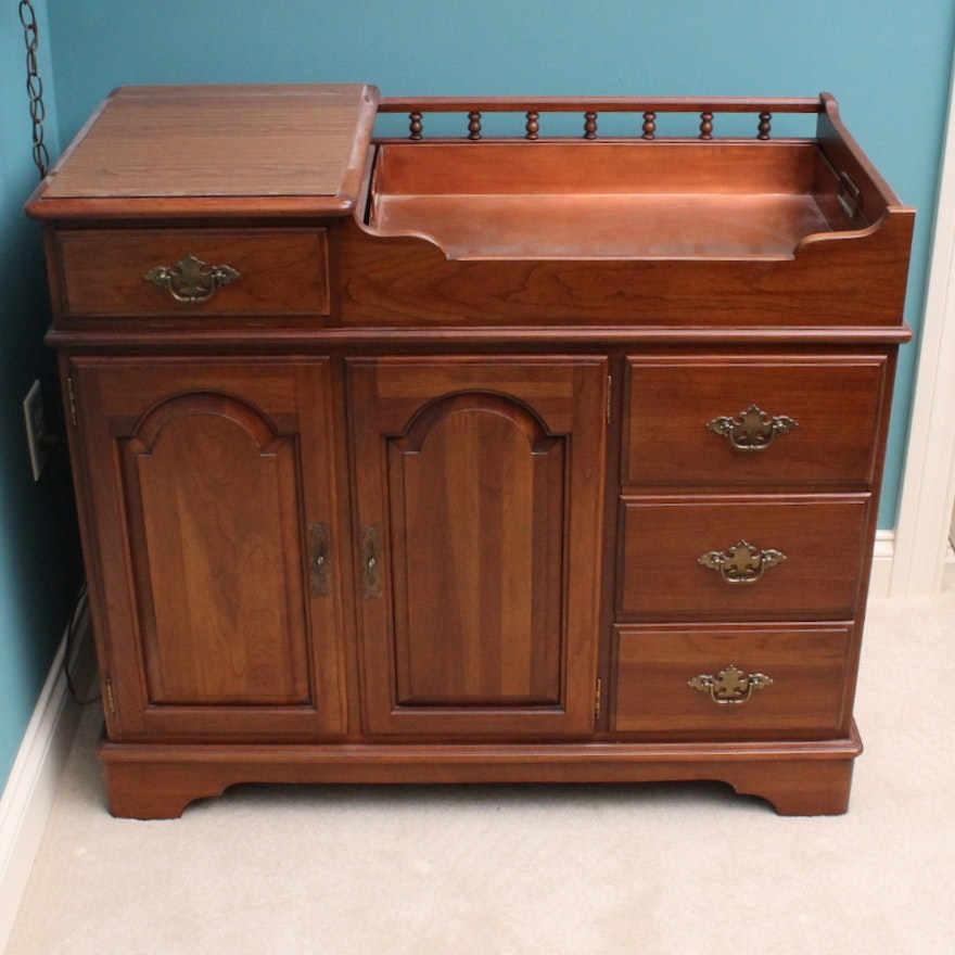 Swell Ethan Allen American Traditional Cherry Dry Sink Download Free Architecture Designs Meptaeticmadebymaigaardcom