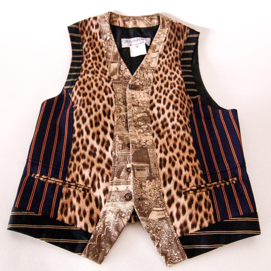 37dd4aea1aa Men's Yves Saint Laurent Patchwork Vest : EBTH
