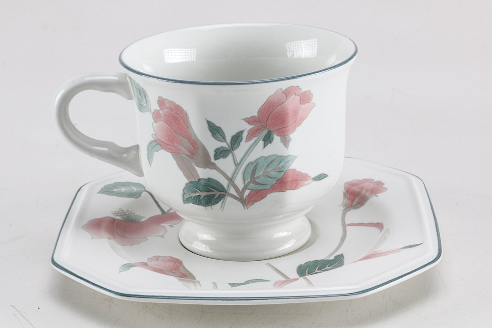 Mikasa Continental Dinnerware In The Quot Silk Flowers