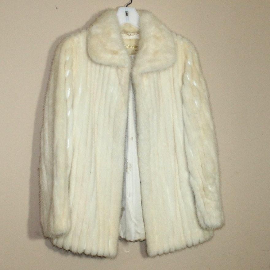 4501bbacdd25 Off-White Mink Fur Jacket   EBTH
