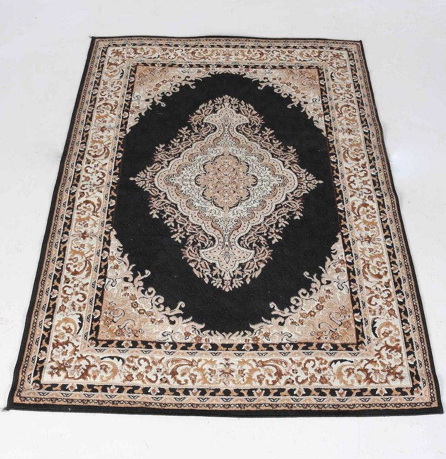 Persian Style Wool Area Rug Ebth: Machine Made Persian Style Area Rug : EBTH