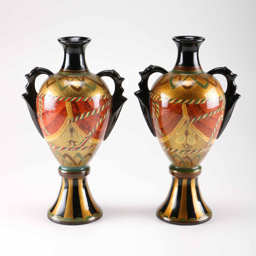 Early 21st Century Hand Painted Vases From Pier 1 Imports Ebth