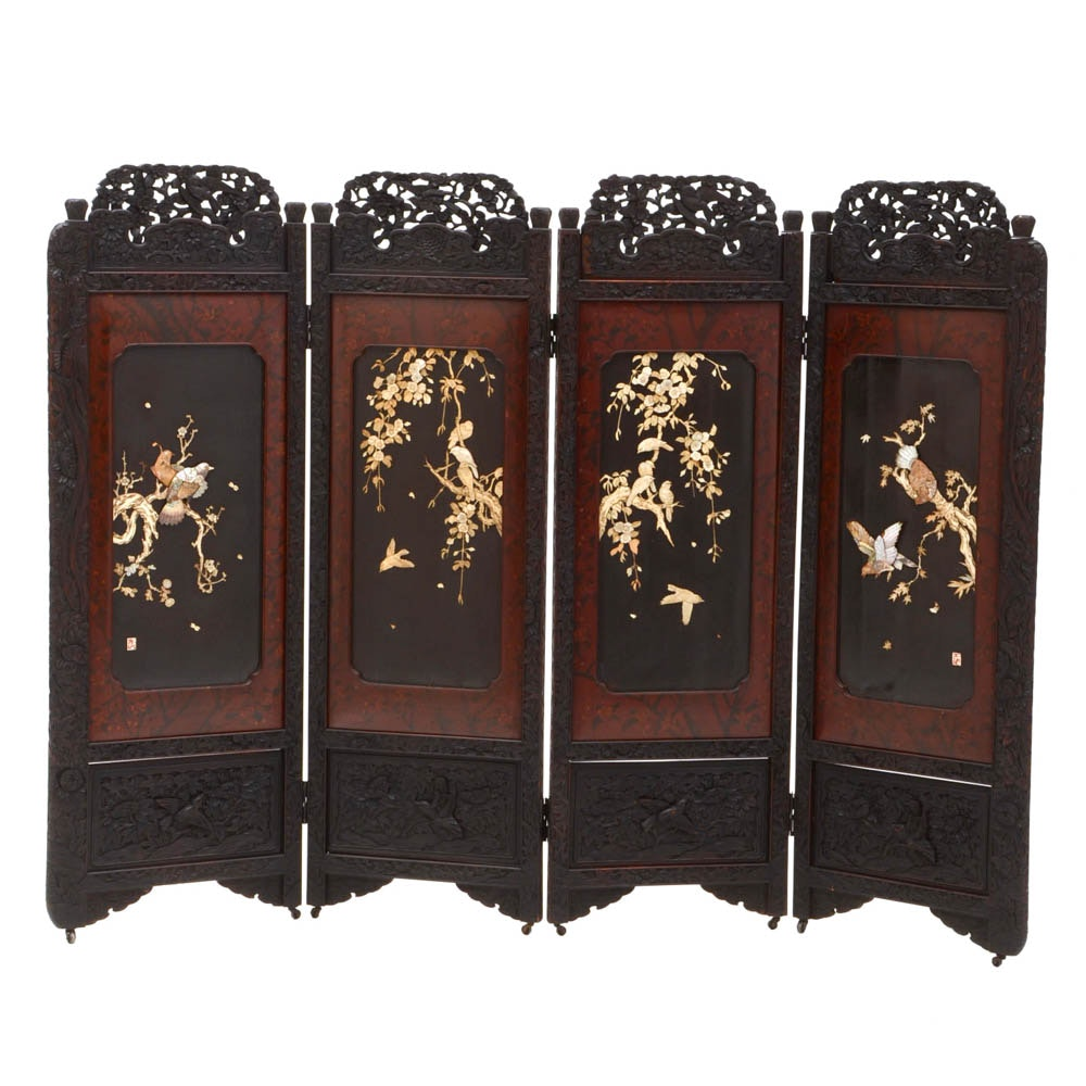 Carved Chinese Screen