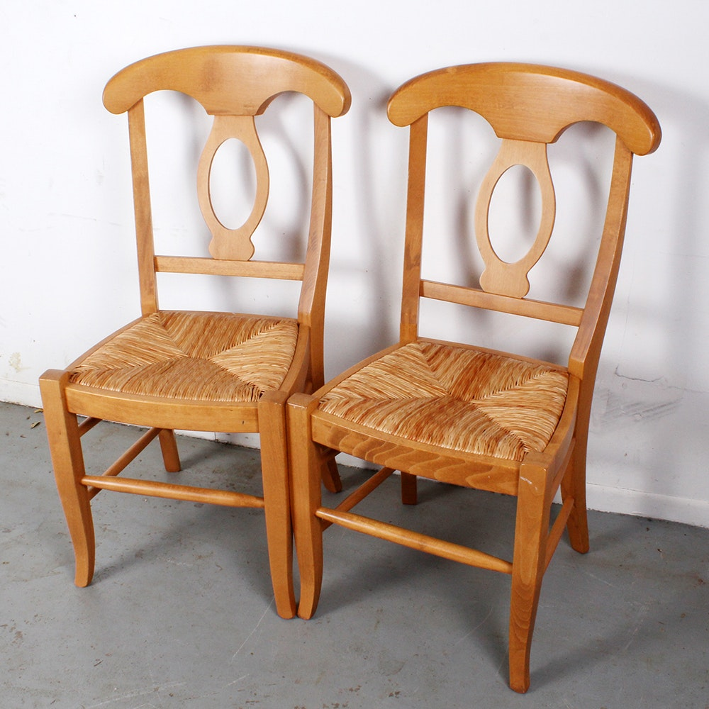 Napoleon Style Pine Side Chairs ...