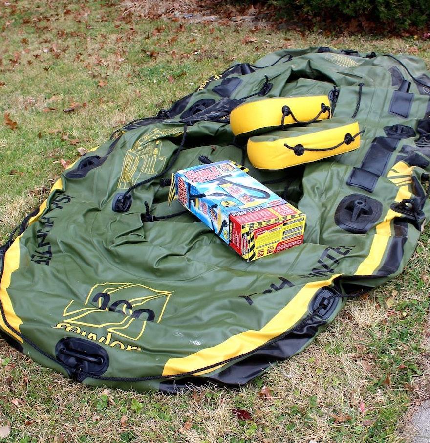Sevylor hf360 fish hunter inflatable 6 person boat ebth for Sevylor fish hunter 360