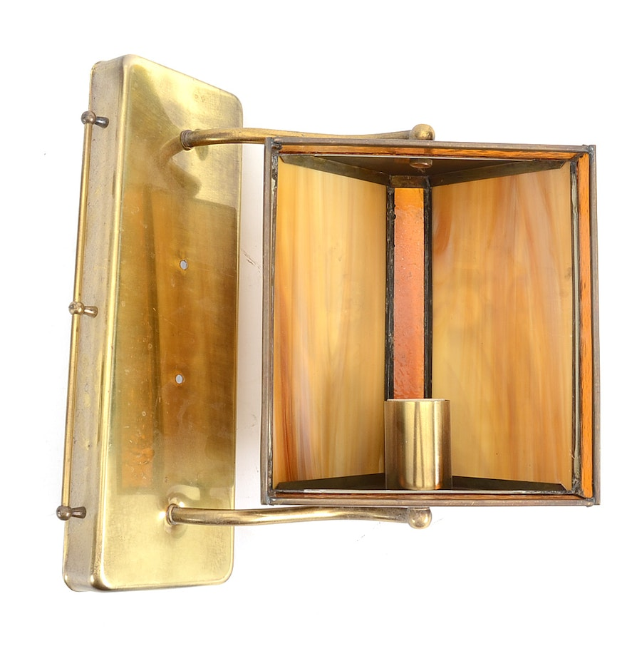 Wall Mounted Glass Lights : Wall Mount Stained Glass Light Fixture : EBTH