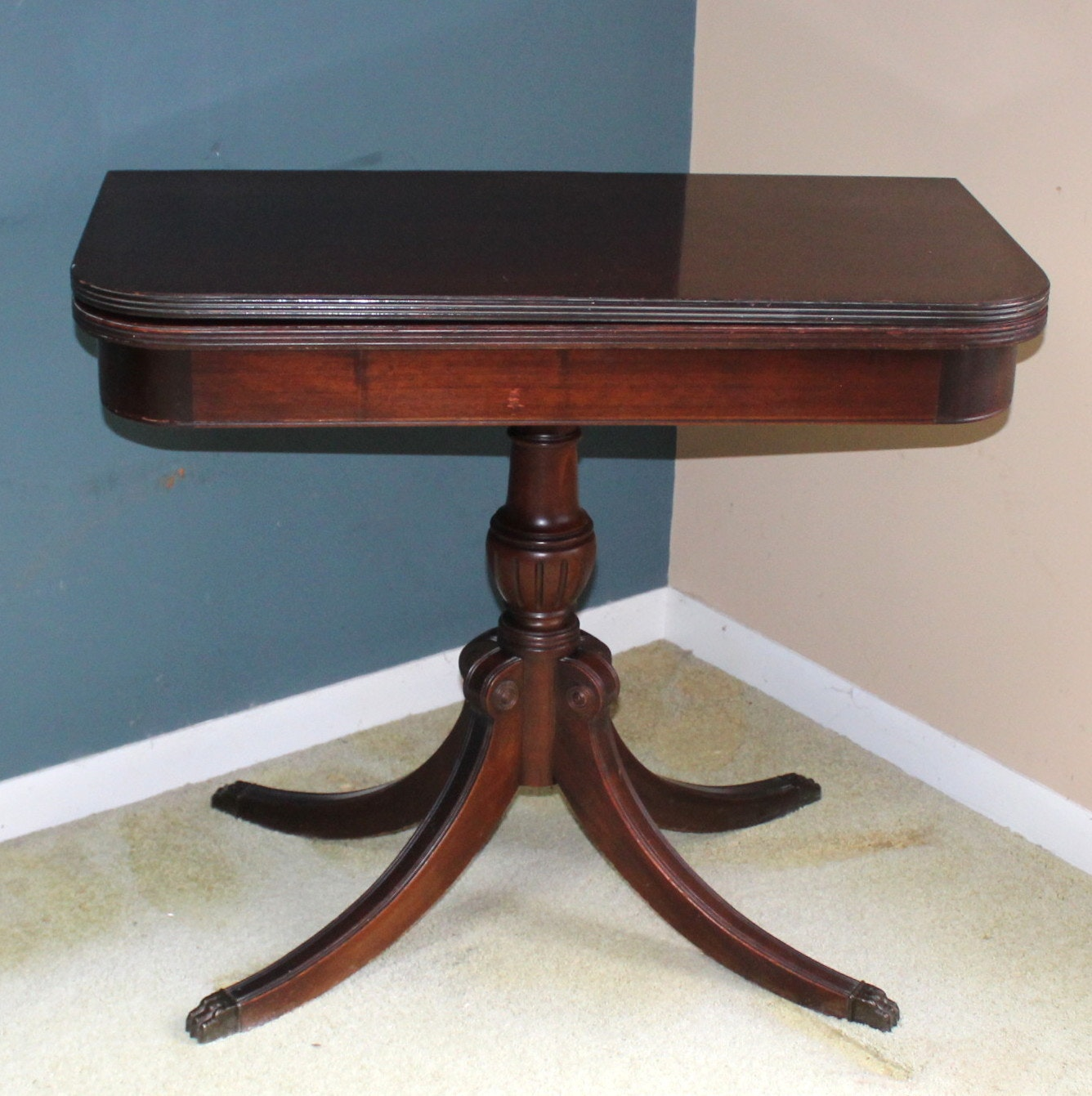 Antique Duncan Phyfe Game Table ...