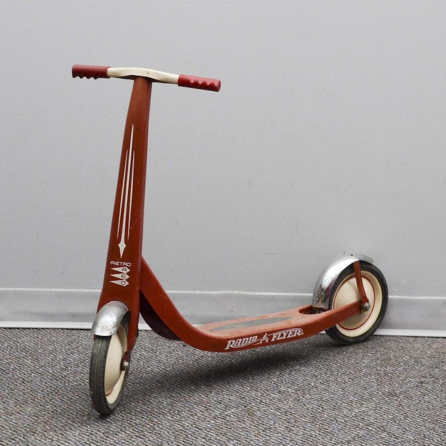 Vintage Red Radio Flyer Scooter Ebth