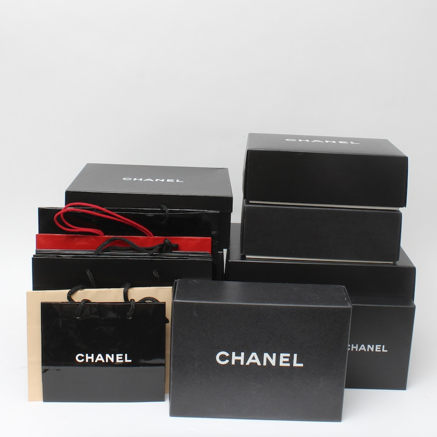 df279faf6224 Collection of Chanel Gift Boxes and Bags : EBTH