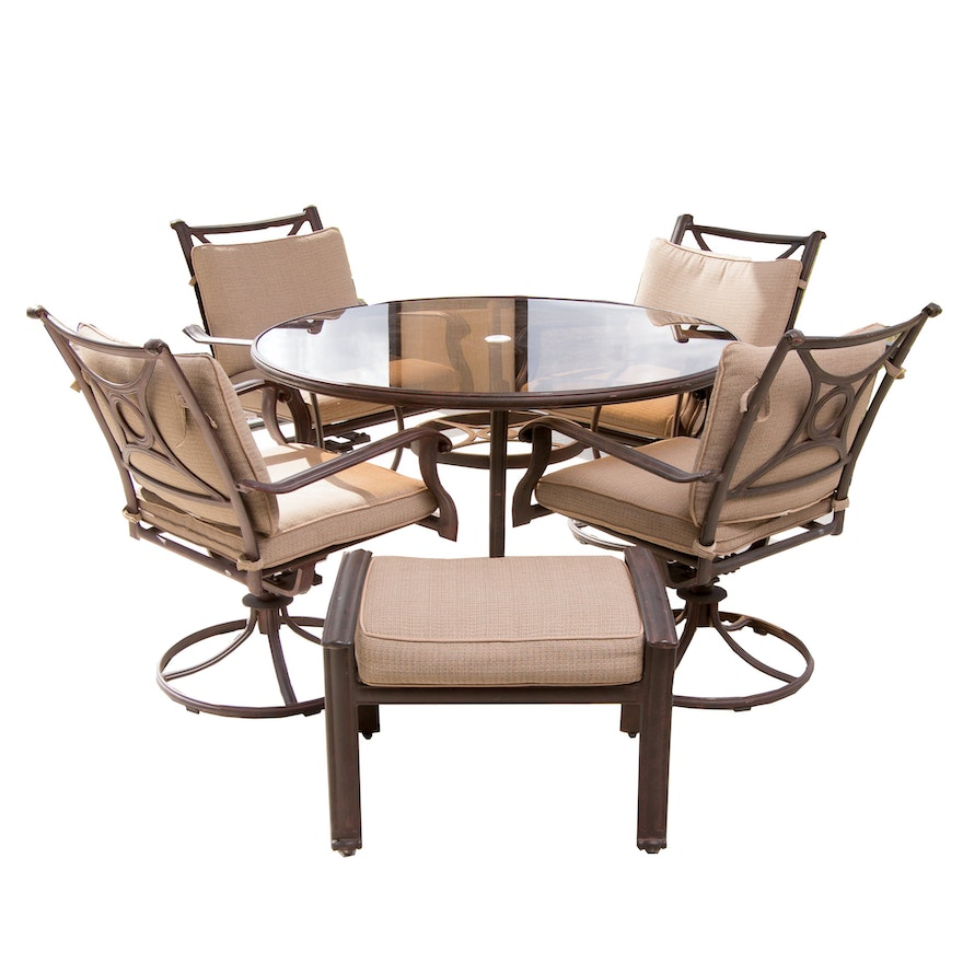 Strange Coleman Windsor Outdoor Patio Set Bralicious Painted Fabric Chair Ideas Braliciousco
