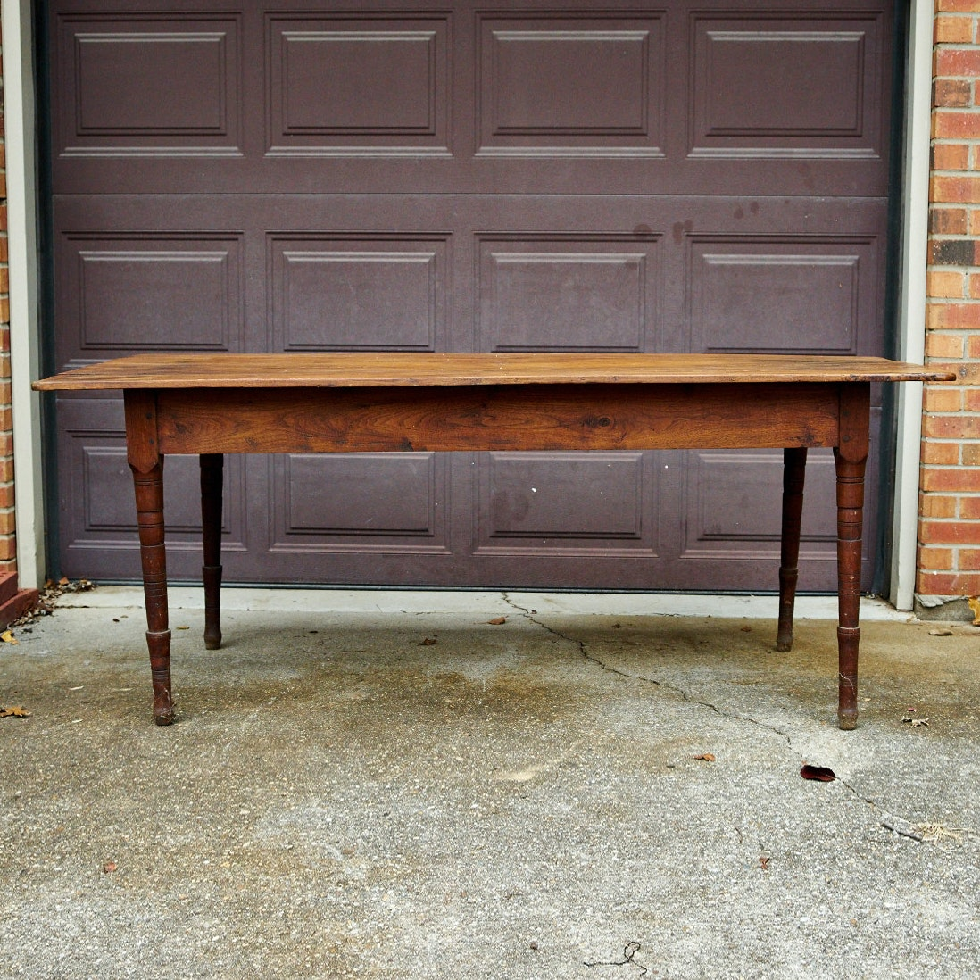 Antique Walnut Farm Style Dining Table ...
