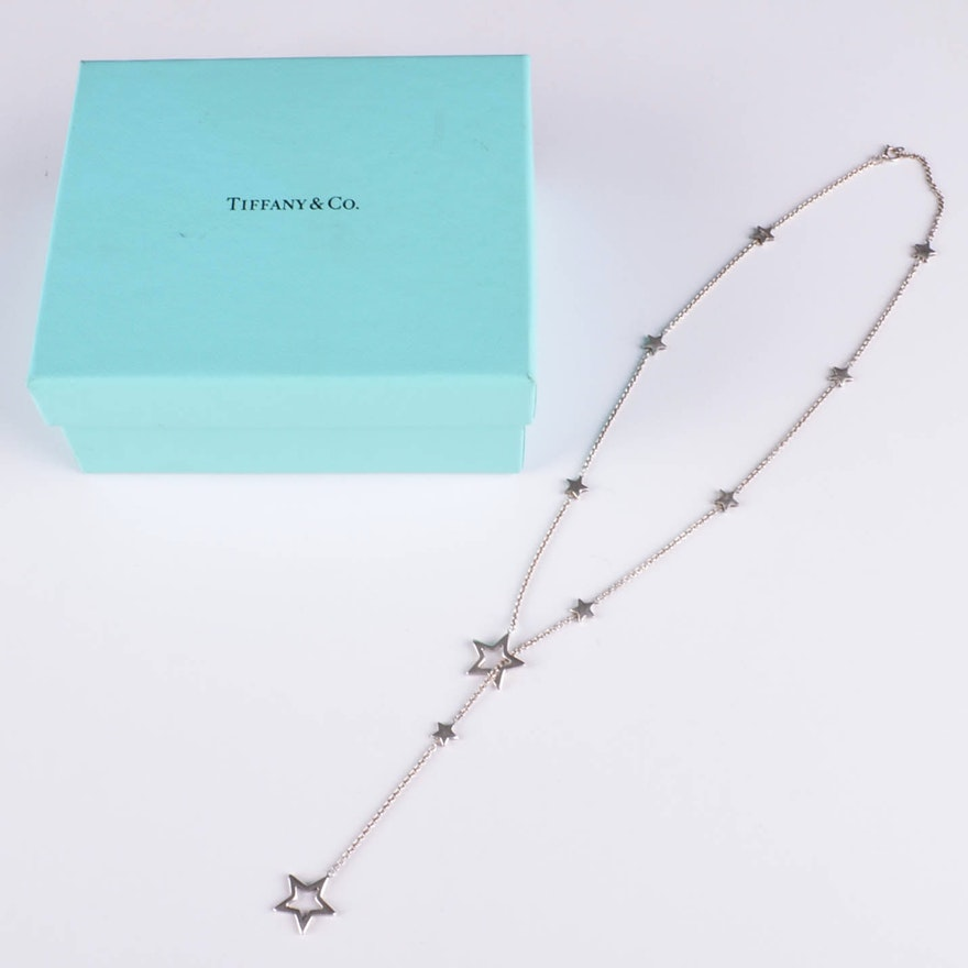 55a3c07a7c465 Tiffany & Co. Sterling Silver Star Lariat Necklace