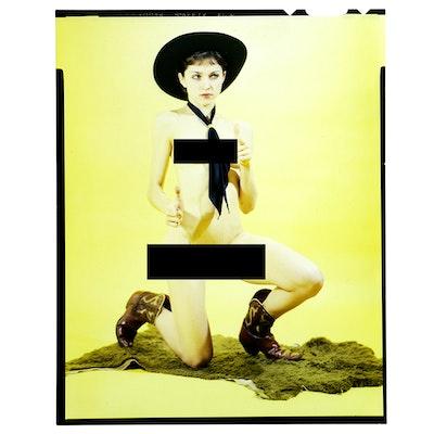 Original Transparency of Madonna Posing Nude in 1977