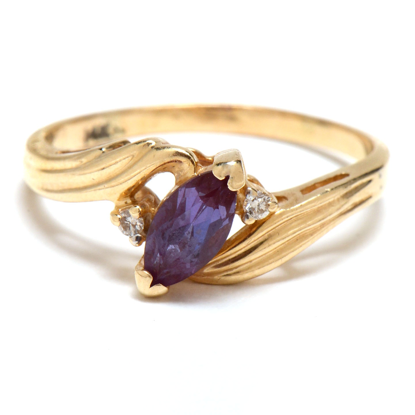 14K Yellow Gold Synthe...