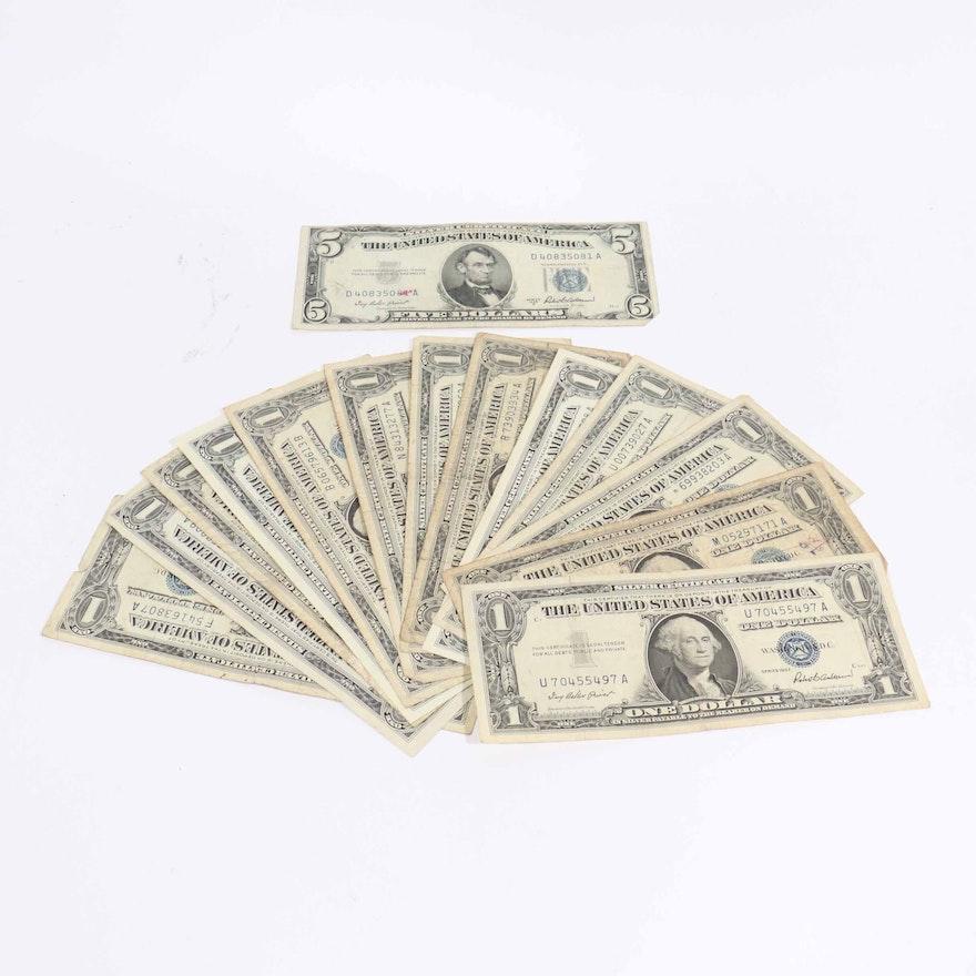 1957 Silver Certificate Dollar Bills Ebth