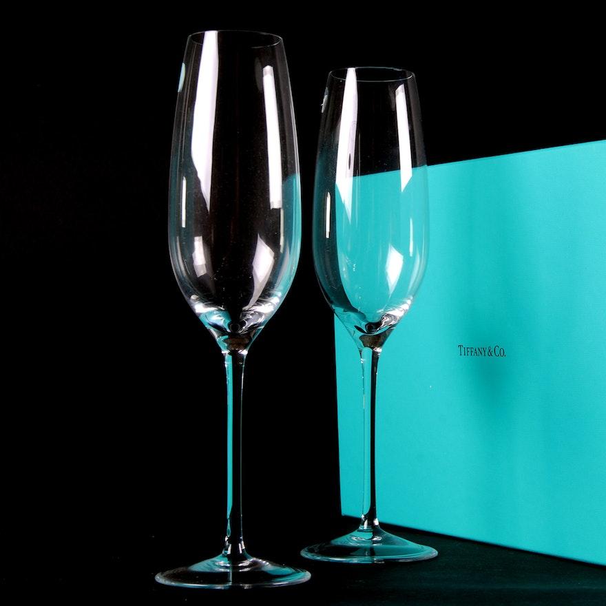 304011cd0dffd Tiffany Crystal Champagne Flutes   EBTH